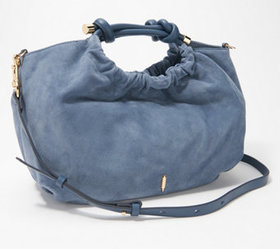 """""""As Is"""" THACKER Convertible Small Suede Satchel -"""