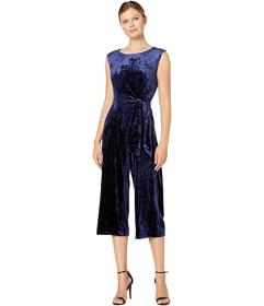 Tahari by ASL Stretch Crinkle Velvet Cropped Side