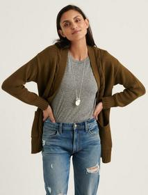 Lucky Brand Cable Front Cardigan