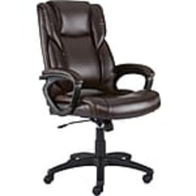 Staples Kelburne Luxura Faux Leather Computer and