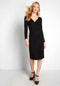 ModCloth ModCloth Knit on the Town Faux-Wrap Dress
