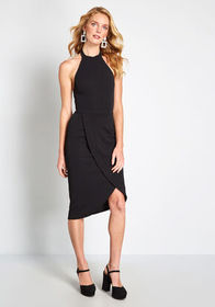 ModCloth Exceptional at All Angles Sheath Dress Bl