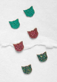 Kitty Little Thing Earring Set Blue Multi