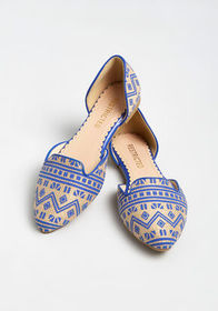 Restricted Around the World d'Orsay Flat Navy