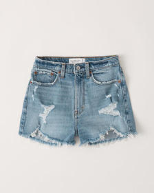 Curve Love High Rise Mom Shorts, LIGHT RIPPED WASH
