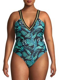 XOXO Women's Plus Size Deep Plunge Cage Back With