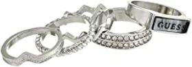 GUESS Five-Piece Stack Ring Set