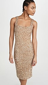 alice + olivia Helen Sequin Fitted Square Neck Dre