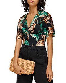 Whistles - Tropical Floral Fitted Top
