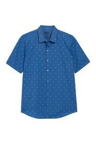 Zachary Prell Souza Trim Fit Print Sport Shirt