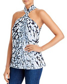 Elie Tahari - Aspen Printed Twist-Neck Top