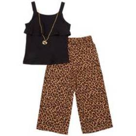 Girls (4-6x) One Step Up Leopard Woven Crepe Palaz