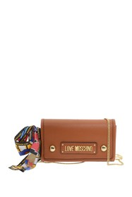 LOVE Moschino Faux Leather Chain Shoulder Strap Cr