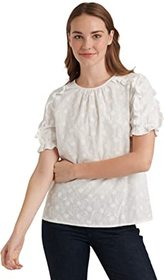 Lucky Brand Short Sleeve Crew Neck Lauren Ruffle T
