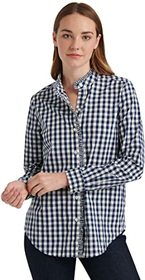 Lucky Brand Long Sleeve Button-Up Classic Ruffle S