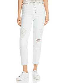 J Brand - Heather Ripped Button-Fly Jeans in Hydro