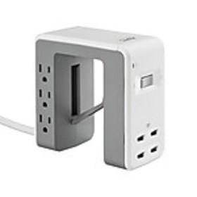 APC Essential 6 Outlet Desk Clip Surge Protector,