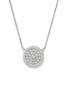Bloomingdale's - Diamond Disc Pendant Necklace in