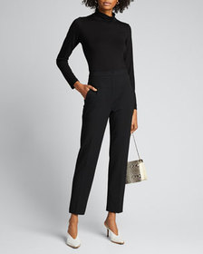 Tibi Anson Stretch Tailored Ankle Pants