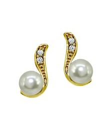AQUA - Pavé Accent & Cultured Pearl Drop Earrings