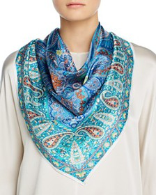Echo - Classic Paisley Square Scarf - 100% Exclusi
