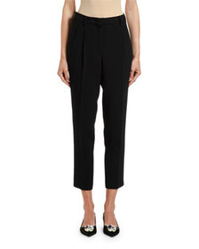 No. 21 Mid-Rise Straight-Leg Ankle Pants