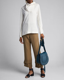 3.1 Phillip Lim Straight-Leg Crepe Trousers with B