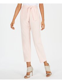 CALVIN KLEIN Womens Pink Cropped Wear To Work Pant