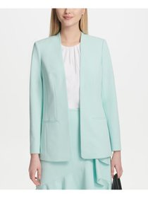 CALVIN KLEIN Womens Aqua Wear To Work Jacket Petit