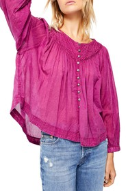 Free People Cool Meadow Peasant Top