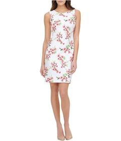 Tommy Hilfiger Azalea Cluster Scuba Sheath Dress