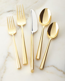 kate spade new york 5-piece malmo gold flatware pl