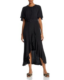 FRENCH CONNECTION - Emina Belted Midi Dress