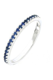Bony Levy 18K White Gold Sapphire Stackable Ring