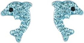 Betsey Johnson Dolphin Stud Earrings