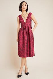 Anthropologie Gwyneth Jacquard Midi Dress