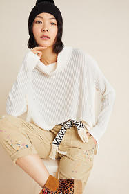Anthropologie Vanna Cowl Neck Pullover