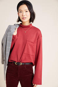 Anthropologie Stateside Long-Sleeved Pocket Tee