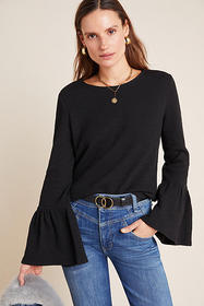 Anthropologie Joan Bell-Sleeved Top