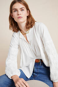 Anthropologie Abigail Lace Blouse