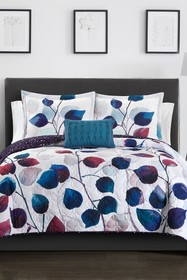null King Semnai Watercolor Floral Print With Geom
