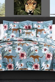 null Queen Orythea Tropical Theme Floral Leopard P
