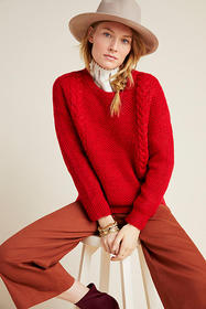 Anthropologie Allyson Cable-Knit Sweater