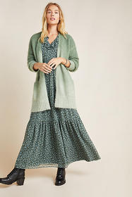 Anthropologie Jenee Dip-Dyed Ombre Cardigan