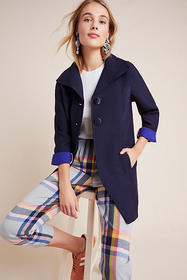Anthropologie Wellesley Pleated Peacoat