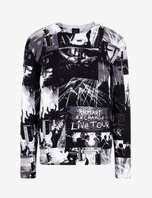 Armani SWEATER WITH PHOTOGRAPHIC PRINT