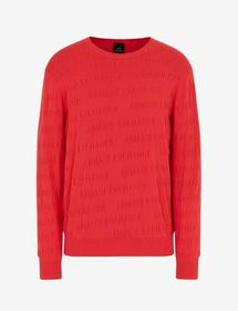 Armani SWEATER WITH ALL-OVER LOGO