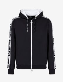 Armani LOGO TAPE HOODED SWEATSHIRT