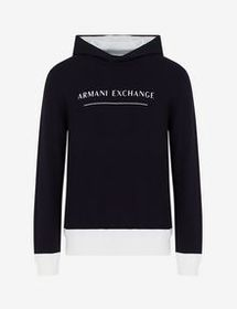 Armani HOODED COTTON SWEATER