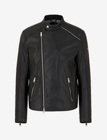 Armani FAUX-LEATHER BIKER JACKET